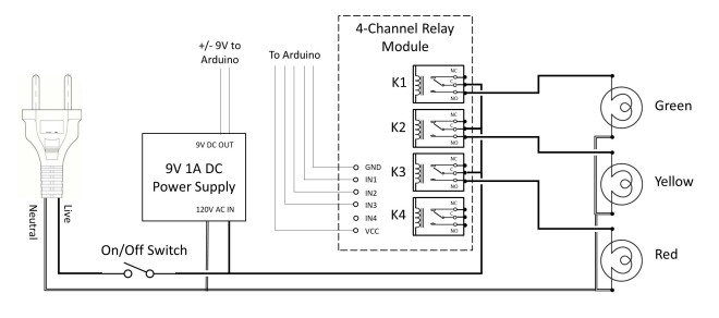 Timing Light AC Schematic